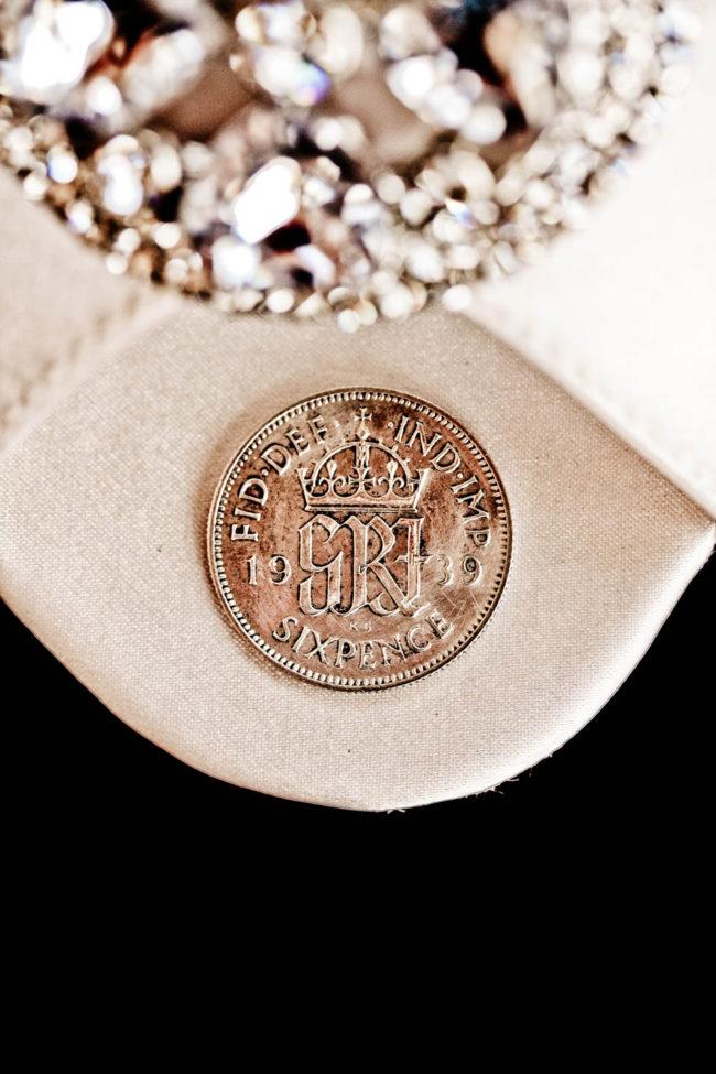 wedding good luck charm sixpence.