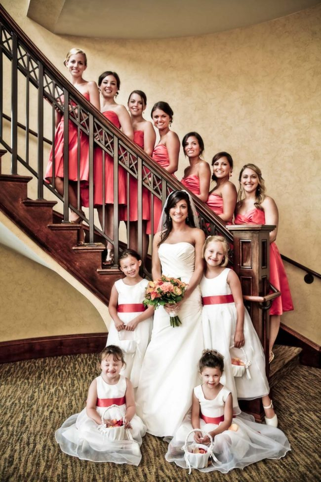 Wedding bridal party at Gettysvue Country Club.