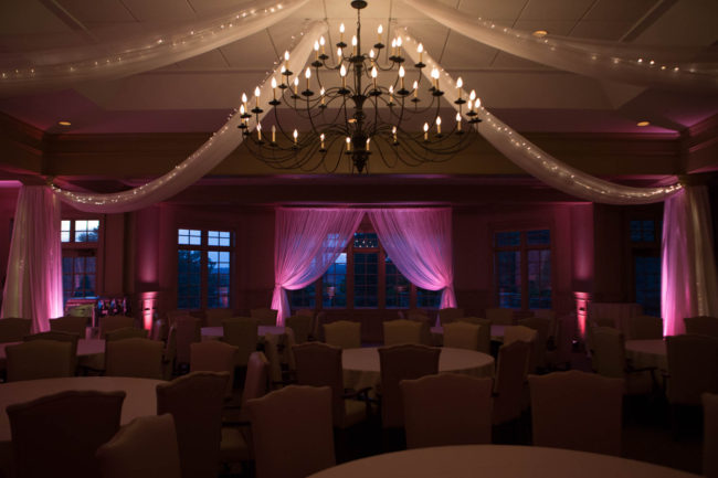 drapes for walls and windows for wedding reception