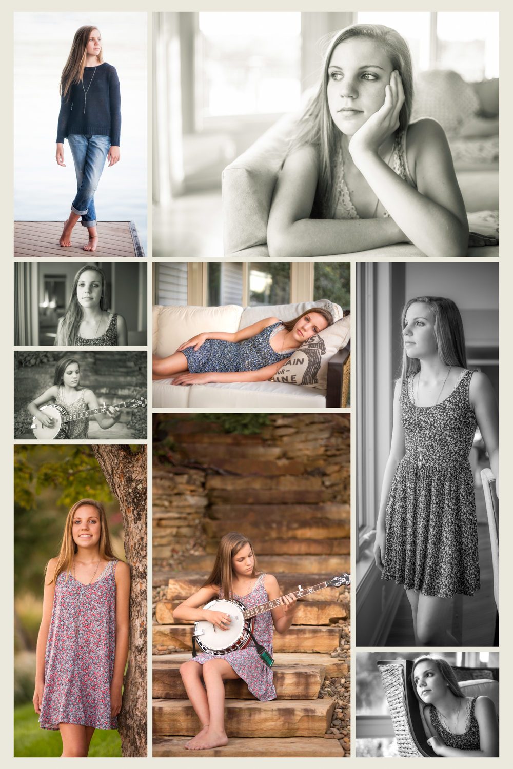 indoor and outdoor senior photography