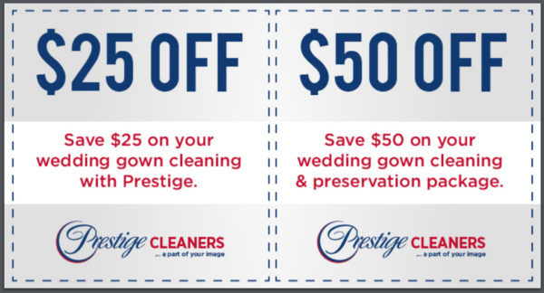 clean and preserve wedding gown $50 off